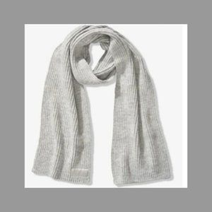 NWT Grey Ribbed Scarf by PINK VS